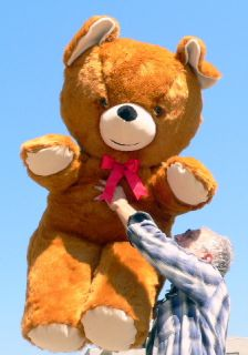 54 Giant Teddy Bear Big Plush Brown Jumbo Large Huge