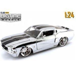 Jada Big Time Muscle 91197 1 24 Chrome Chase 1967 Ford Mustang Shelby