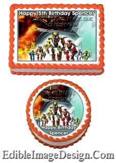 Hero Factory Edible Party Birthday Cake Image Cupcake Topper Favor