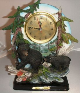 Black Bear Desk Clock North American Collection