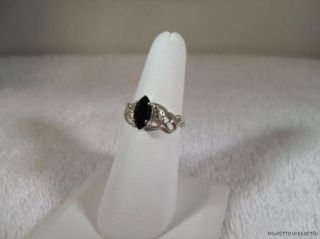 Black Onyx Ladies Ring 10x5mm Black Hills Gold Sterling Silver Multi