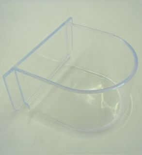Lot of 4 Bird Cage Seed Water Feeder Cup   4xC8054 Clear Plastic Cup