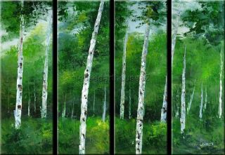 BIRCH Abstract Modern Art Original Oil Painting