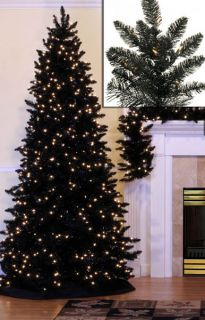 items 12 pre lit slim black ashley spruce christmas tree