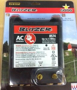 Zareba Blitzer 5 Mile Electric Fence Energizer AC Powered 8574