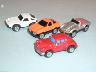 VINTAGE GALOOB MICRO MACHINES LOT OF 4 PLASTIC AUTOS CARS VEHICLES