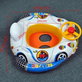 BABY KIDS WATER POOL SWIM RING SEAT FLOAT BOAT SWIMMING AID TUBE W