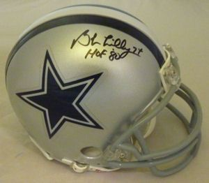 Bob Lilly Autographed Signed Dallas Cowboys Mini Helmet w HOF 80