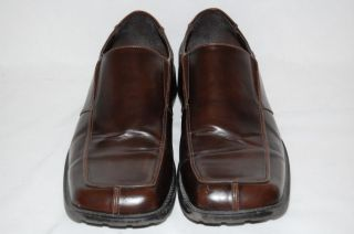 Borelli Mens Dress Shoes Brown Leather Loafers Mens Slip ons 13