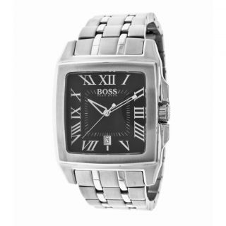 HUGO BOSS H2018 Classic Square Mens Stainless Steel Watch 1512496 NWT