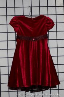Stunning Bonnie Jean Girls Red Holiday Dress Sz 5