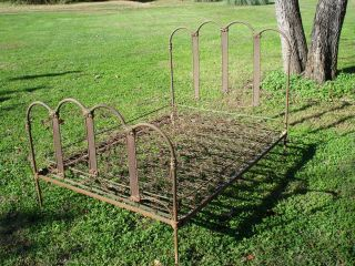 Antique Cast Iron Bed Decorative with Original Box Springs