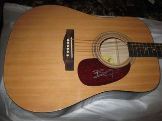BRANTLEY GILBERT Signed ACOUSTIC GUITAR PROOF