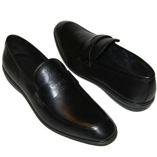 HUGO BOSS Black Penny Loafers Dress Shoes 12 45 UK 11 Mens Casual 12 5