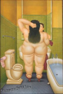 Modern Portrait Art Fernando Botero Hand Painted Oil Painting