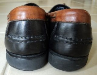ROCKPORT MENS BLACK & BROWN LEATHER TASSELS & KILTY LOAFERS/SHOES ~ 9