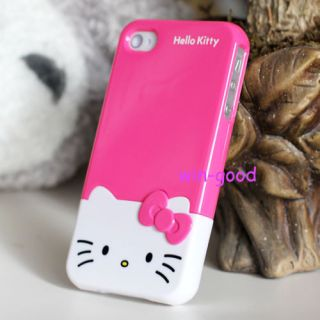 Cool Hellokitty 3D Fashion BOW Case Cover Skin Hard Candy For Iphone 4