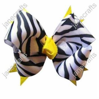 Zebra Baby Girl Toddler Fashion Spike Hair Bows 12pcs Mixed in 6 Color
