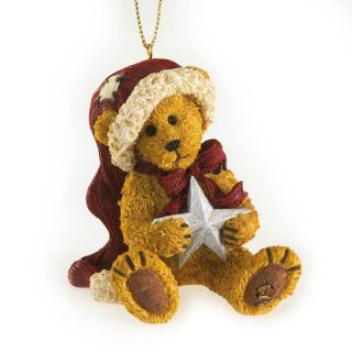 Boyds Bear Resin * Northstar Nick * Christmas Ornament Santa w/ Star