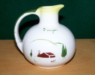 Vintage Brock California Pottery RARE Harvest Yellow Vinegar Pitcher