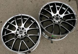 Bremmer Kraft BR05 20 Chrome Rims Wheels Mustang Staggered 20 x8 5 20
