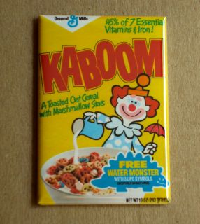 Kaboom Cereal Box Fridge Magnet Clown Circus Breakfast 80s Vintage