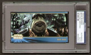 Brian Blessed Signed Autograph Auto Boss Nass Star Wars Card PSA