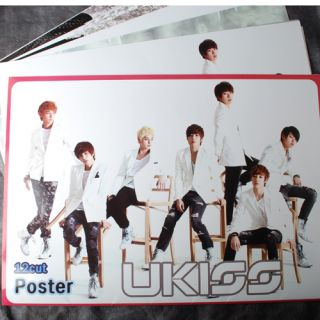 POP UKISS 12 Posters U KISS Collection Bromide 2012 NEW 12PCS