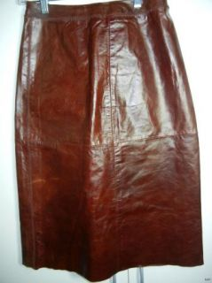 Gap Womens Red Leather A Line Skirt Size 1