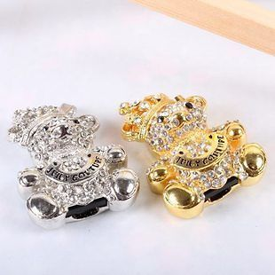 Pretty crystal Crown bear USB 2.0 Memory Stick Flash Drive enough 8GB