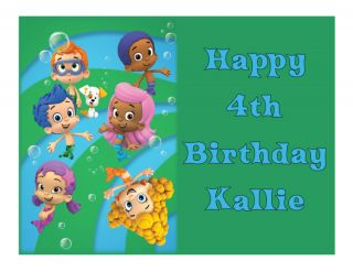Bubble Guppies Edible Cake Image Topper Frosting