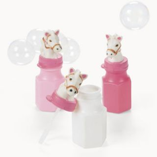 12 Horse Bubbles Cowgirl party birthday Favors decorations western