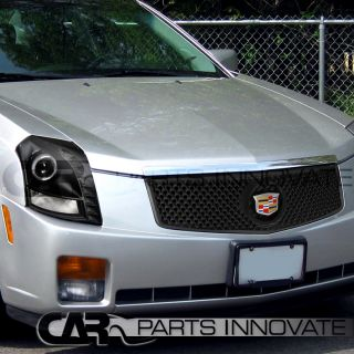 2003 2007 Cadillac cts Black Projector Headlights Mesh Grille Euro