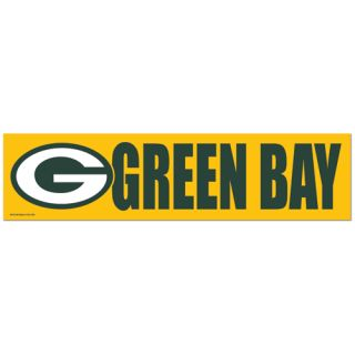 Green Bay Packers Bumper Car Sticker NFL National Football League