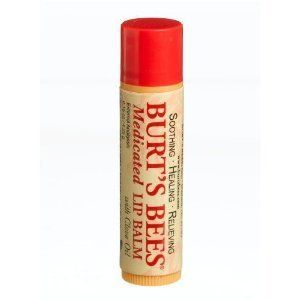 Burts Bees Beeswax MEDICATED Lip Balm (Set of 6) NEW