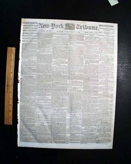 1864 Civil War Newspaper WILLIAM T. SHERMAN New Orleans LA   TEXAS