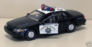 1999 Ford Crown Vic Diecast Cali State Patrol Car 1 38