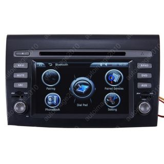 Car GPS Navigation Double DIN TFT TV DVD Player Radio for 07 11 Fiat