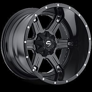 2pc Driller Black Rims 22x14 Truck Wheels Nitto Terra Tires
