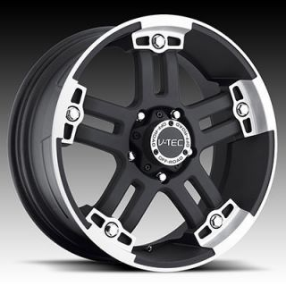 Black Wheels Rims 6x5 5 6 Lug Chevy Chevrolet GM Nissan Truck
