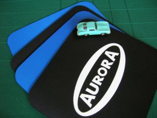 Aurora Slot Car HO Aurora Logo Mouse Pad New Black