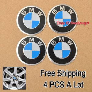 BMW Logo 4X Car Accessories Ornament Wheel Center Hub Cap Stickers