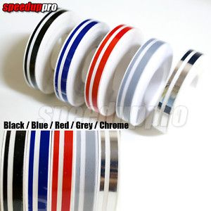 Pin Stripe Tape Streamline Car Decals Stickers Blue Red Grey