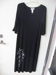 Womens Carolyn Strauss Black Dress Small