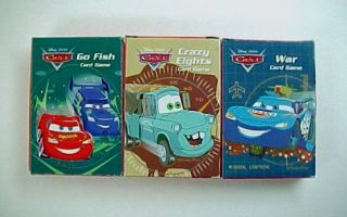 Disney Pixar Cars Card Games Go Fish Crazy Eights War