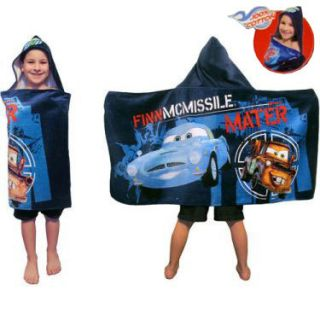 Cars 2 Finn McMissile   Mater Kids Beach Pool Bath Hooded Towel NEW