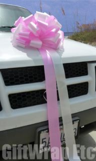 XL Big 16 Candy Pink White Bows Gift Car Wedding Baby Shower Party