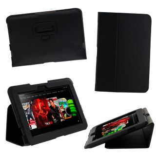 Slim Vegan Leather Stand Case for  Kindle Fire HD 8 9