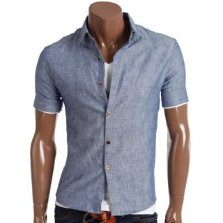 Unghea AU Mens Casual Short Buttondown Shirts S302Z
