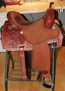Martin Crown C Cervi Barrel Racing Saddle 14 5 Elephant Inlay 7 gullet